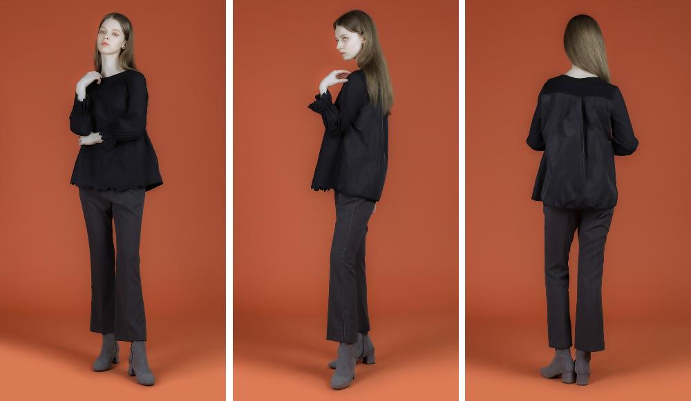 블라우스 모델 착용 이미지-S1L14