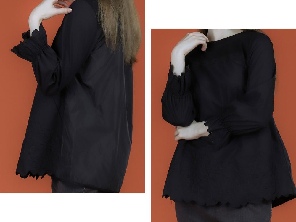블라우스 모델 착용 이미지-S1L11
