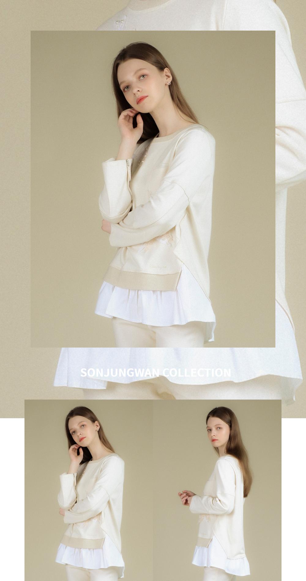 긴팔 티셔츠 모델 착용 이미지-S2L2
